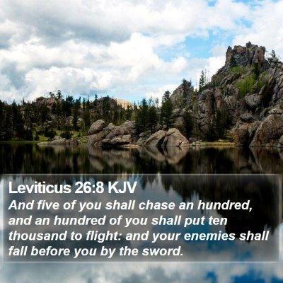 Leviticus 26:8 KJV Bible Verse Image