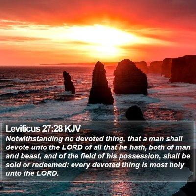 Leviticus 27:28 KJV Bible Verse Image