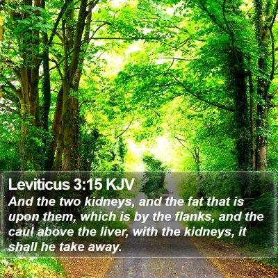 Leviticus 3:15 KJV Bible Verse Image