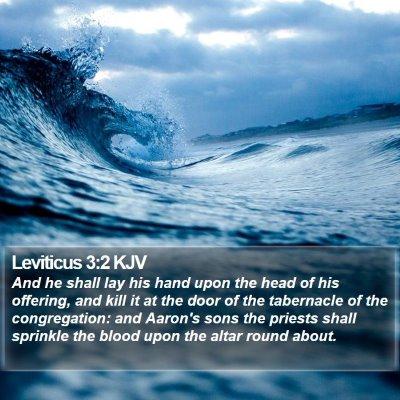 Leviticus 3:2 KJV Bible Verse Image