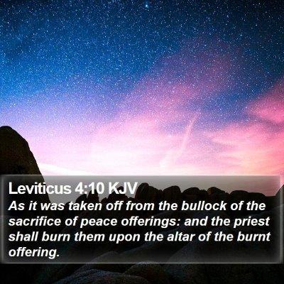 Leviticus 4:10 KJV Bible Verse Image