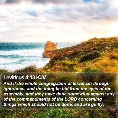 Leviticus 4:13 KJV Bible Verse Image