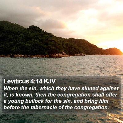 Leviticus 4:14 KJV Bible Verse Image