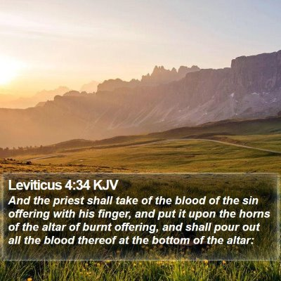 Leviticus 4:34 KJV Bible Verse Image