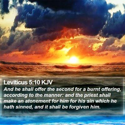 Leviticus 5:10 KJV Bible Verse Image