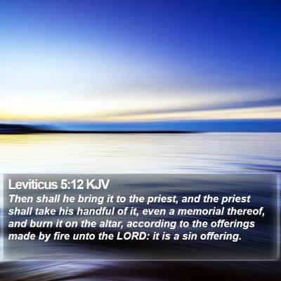 Leviticus 5:12 KJV Bible Verse Image