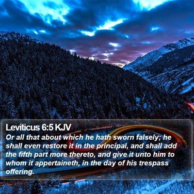 Leviticus 6:5 KJV Bible Verse Image
