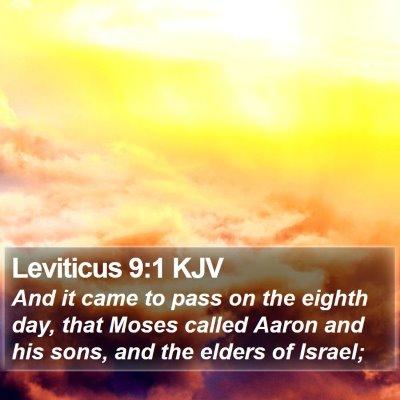 Leviticus 9:1 KJV Bible Verse Image