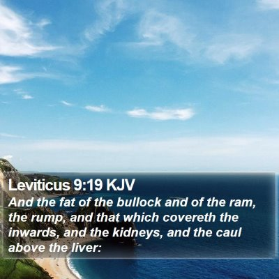 Leviticus 9:19 KJV Bible Verse Image