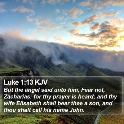 Luke 1:13 KJV Bible Verse Image