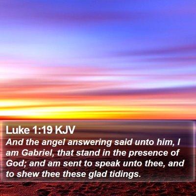 Luke 1:19 KJV Bible Verse Image