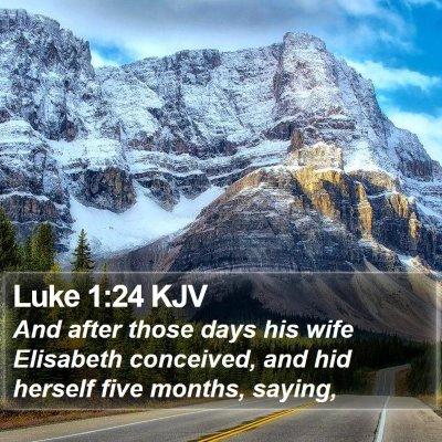 Luke 1:24 KJV Bible Verse Image