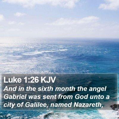 Luke 1:26 KJV Bible Verse Image