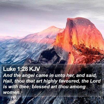 Luke 1:28 KJV Bible Verse Image