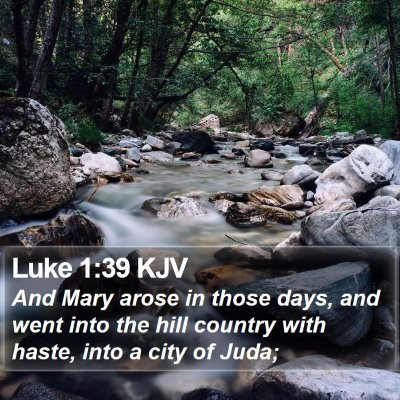 Luke 1:39 KJV Bible Verse Image
