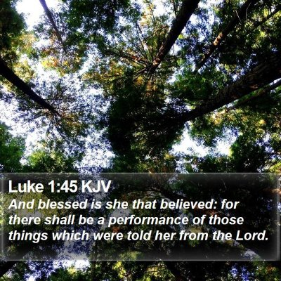 Luke 1:45 KJV Bible Verse Image