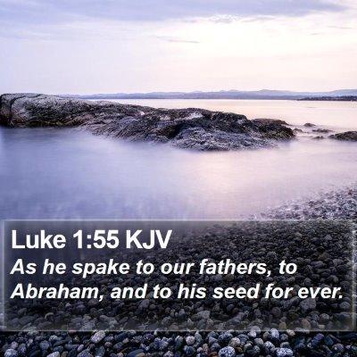 Luke 1:55 KJV Bible Verse Image