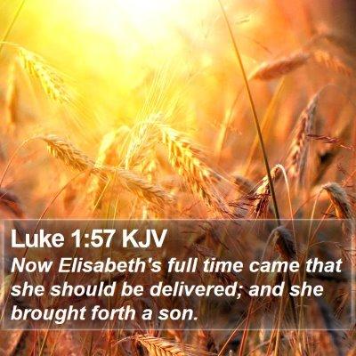 Luke 1:57 KJV Bible Verse Image