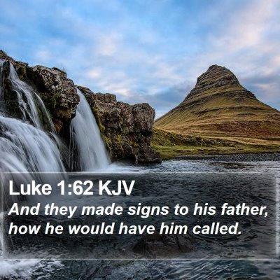 Luke 1:62 KJV Bible Verse Image