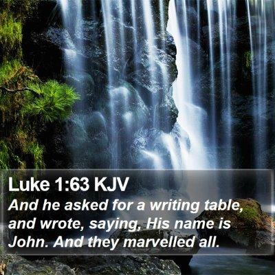 Luke 1:63 KJV Bible Verse Image