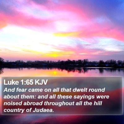Luke 1:65 KJV Bible Verse Image