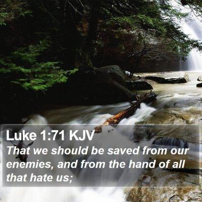 Luke 1:71 KJV Bible Verse Image