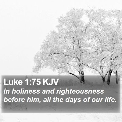 Luke 1:75 KJV Bible Verse Image