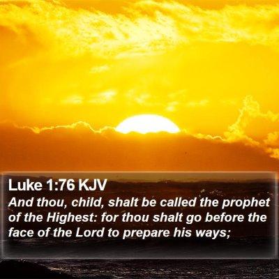 Luke 1:76 KJV Bible Verse Image