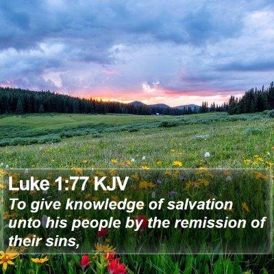 Luke 1:77 KJV Bible Verse Image