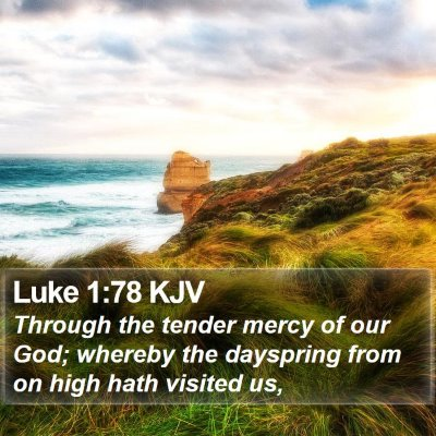Luke 1:78 KJV Bible Verse Image