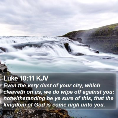 Luke 10:11 KJV Bible Verse Image