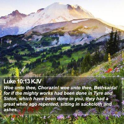 Luke 10:13 KJV Bible Verse Image