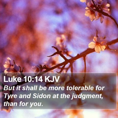 Luke 10:14 KJV Bible Verse Image