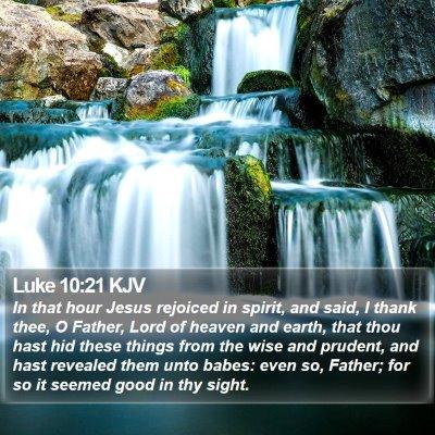 Luke 10:21 KJV Bible Verse Image