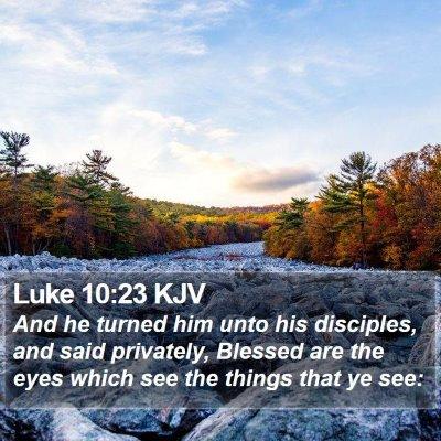 Luke 10:23 KJV Bible Verse Image
