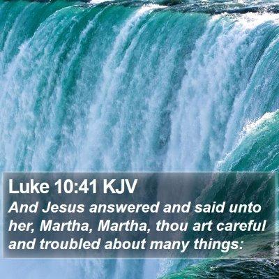 Luke 10:41 KJV Bible Verse Image
