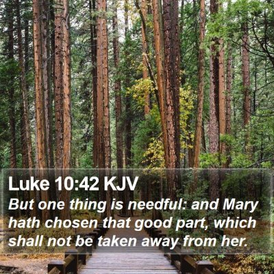 Luke 10:42 KJV Bible Verse Image
