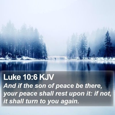 Luke 10:6 KJV Bible Verse Image