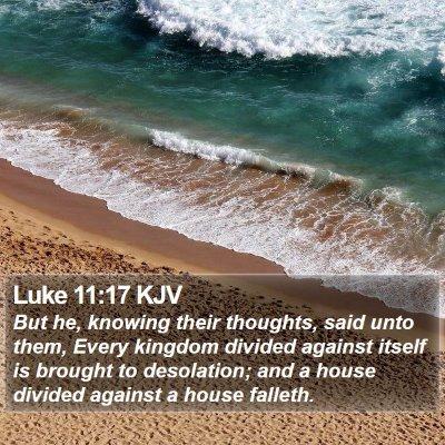Luke 11:17 KJV Bible Verse Image