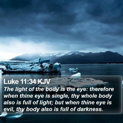 Luke 11:34 KJV Bible Verse Image