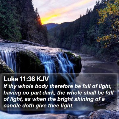 Luke 11:36 KJV Bible Verse Image