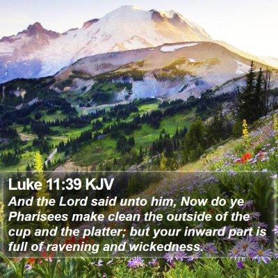 Luke 11:39 KJV Bible Verse Image