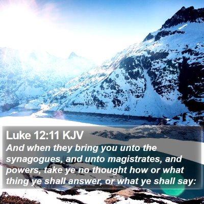 Luke 12:11 KJV Bible Verse Image