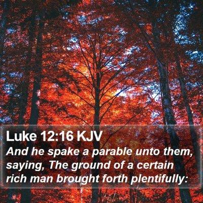 Luke 12:16 KJV Bible Verse Image