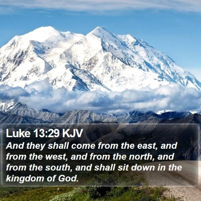 Luke 13:29 KJV Bible Verse Image