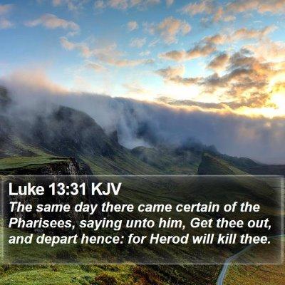 Luke 13:31 KJV Bible Verse Image
