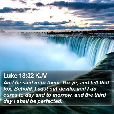 Luke 13:32 KJV Bible Verse Image
