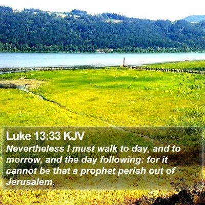 Luke 13:33 KJV Bible Verse Image