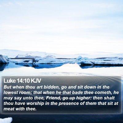 Luke 14:10 KJV Bible Verse Image