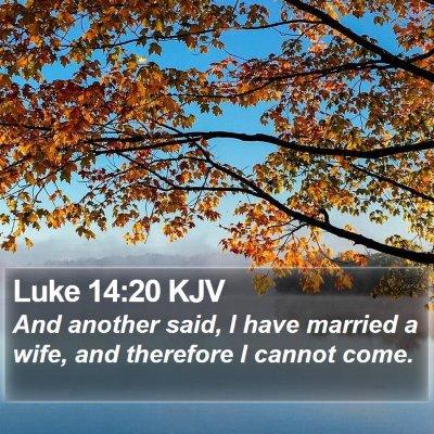 Luke 14:20 KJV Bible Verse Image